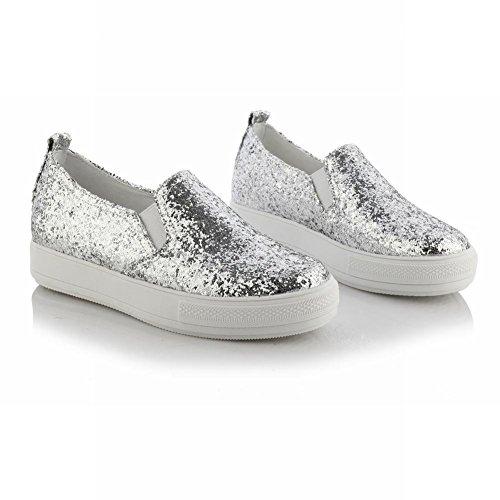 Spectacle Briller Femmes Paillettes De La Mode Paillettes Sandales Chaussures Argent