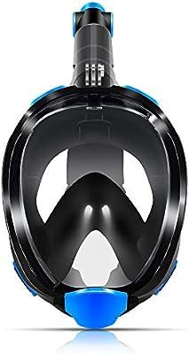 Homfu Máscara de Snorkel, máscara de Snorkel de Cara Completa ...