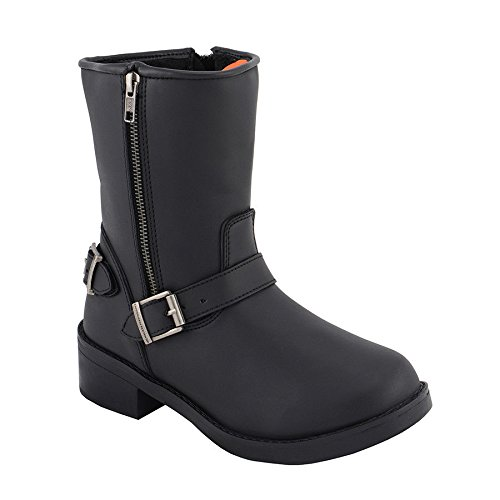 Synthetic Riding Milwaukee Engineer Strap Biker Boot Side Zipper Style Ladies Motorcycle FqFxBtI