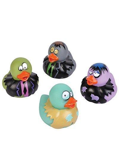 2-inch Zombie Rubber Duckies (Bulk Pack of 12 Ducks)