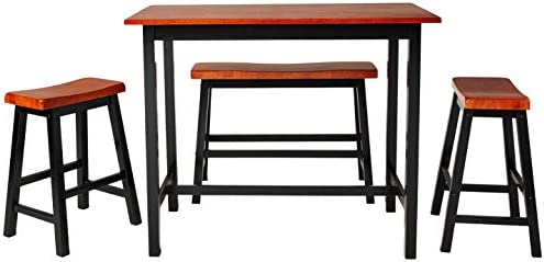 Superb Crown Mark Tyler 4 Piece Counter Height Table Set Caraccident5 Cool Chair Designs And Ideas Caraccident5Info