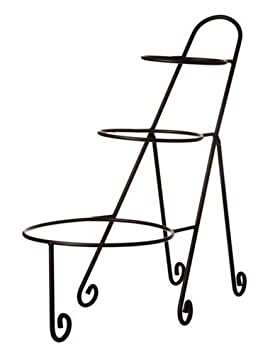 American Metalcraft IS15 Three Tier Ironwork Stand For Round Bowls
