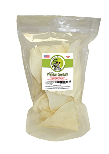 Flavored Compressed Rawhide (Jumbo 14-Pack Cow Ears for Dogs Made in USA Naturally Grain-Free Dog Chews Rich in Collagen and Glucosamine by Sancho & Lola's)