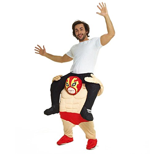 Morph Unisex Piggy Back Mexican Wrestler Piggyback Costume - With Stuff Your Own Legs