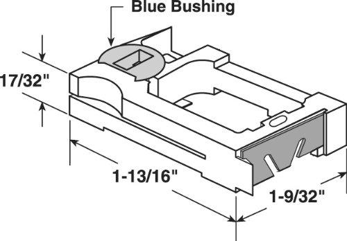 Prime-Line Products H 3785 Tilt Window Spiral Balance Pivot Lock Shoe, 5/8-Inch, 2-Pack