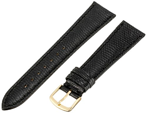Hadley-Roma Men's 20mm Leather Watch Strap, Color:Black (Model: MSM715RA-200) -