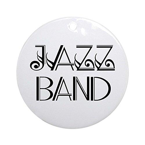 Band Ornament - CafePress Stylish Jazz Band Ornament (Round) Round Holiday Christmas Ornament