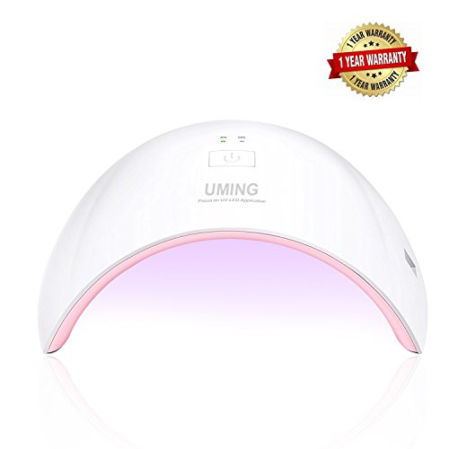 UV Nail Lamp LED Nail Dryer for Gel Nail Polish Dryer Nail Art at Home Shellac UV Light Gel Nail Dryer LED Curing Lamp 24W with 2 Timer Setting Auto Count down