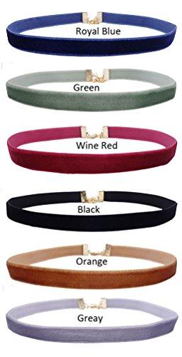 6-10-Pieces-Girls-38-Velvet-Ribbon-Choker-Necklace-Mix-Colors