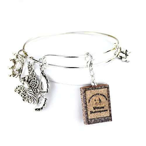 [WILLIAM SHAKESPEARE Clay Mini Book Expandable Bangle Bracelet by Book Beads The Complete Works] (Henry V Play Costumes)