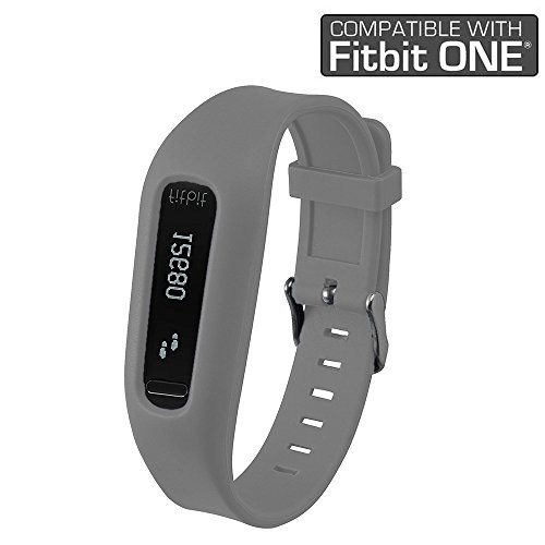 Fitbit One Band/Fitbit One Clip, HWHMH Replacement Band/Replacement Clip Holder for Fitbit One (No tracker) (Grey)