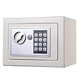Durable Keypad Lock Home Hotel : NEW Small White Digital Electronic Safe Box Keypad Lock Home Office Hotel Gun : Safe Box Small White Electronic