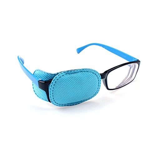 Ewinever(R) 6PCS Amblyopia Eye Patch For Glasses,Treat Lazy Eye and Strabismus for kids,No irritation to children's skin! (Blue) ()