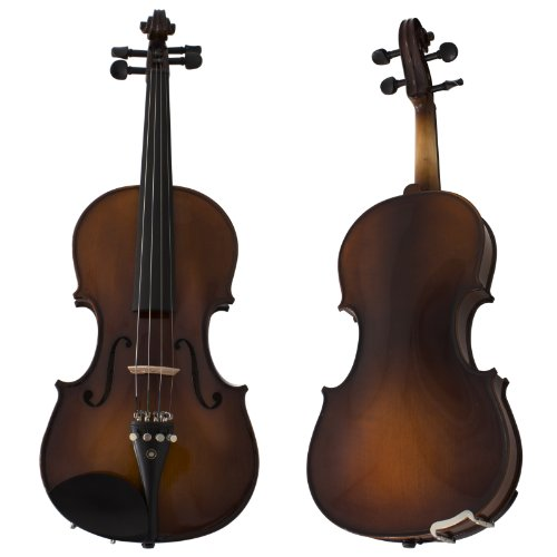 Cecilio 4/4CVN-EAV+SR 4/4 Full Size Violin, Varnish-Antique by Cecilio