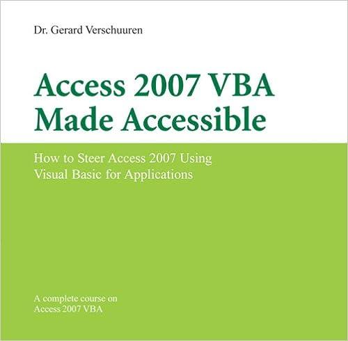 Torrent Para Descargar Access 2007 Vba Made Accessible PDF Web