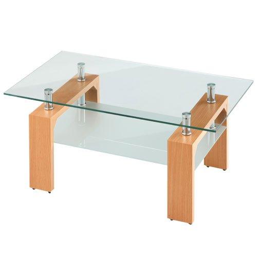 センターテーブル 応接テーブル リビングテーブル ソファーテーブル ローテーブル 〔幅90cm〕 ナチュラル B072LCDYLC