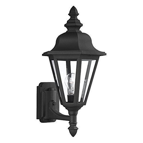 Sea Gull 8824-12 Brentwood 1-Light Black Wall (12 Brentwood 1 Light)