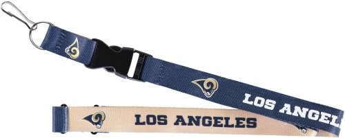 aminco NFL Los Angeles Rams Reversible Lanyard, Navy/White