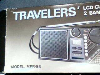 Travelers LCD FM/AM Radio Alarm Clock Model#MFR-88