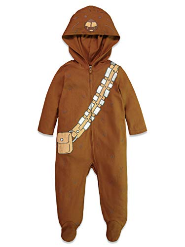 Star Wars Chewbacca Baby Boys Costume Zip-Up Footies with Hood 3-6 Months]()