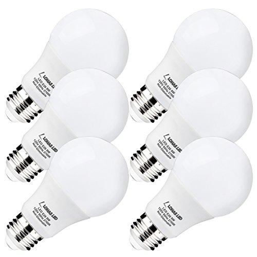 LOHAS LED A19 Light Bulbs, 9W(60 Watt Equivalent) Light Bulbs, 2700k Warm White(Soft White) LED Replacement Bulbs, Medium Screw Base (E26), 240 Degree Beam Angle LED Home Lighting (Pack of 6) 9w Led Spot Light Bulb