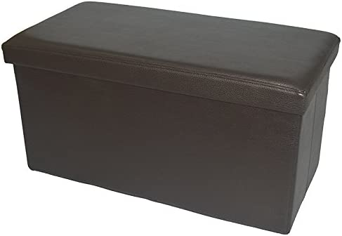 Fsobellaleo Faux Leather Folding Storage Ottoman Footrest Stool Shoe Bench Long Tea Table Brown 30u0027  sc 1 st  Amazon.com & Ottomans u0026 Storage Ottomans | Amazon.com islam-shia.org