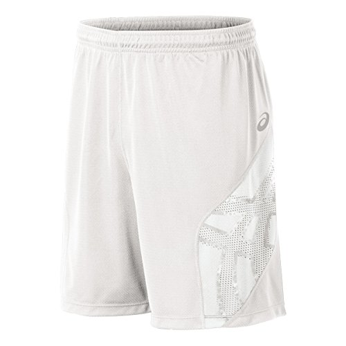 - ASICS Men's Team Performance Volleyball Shorts, White, Large