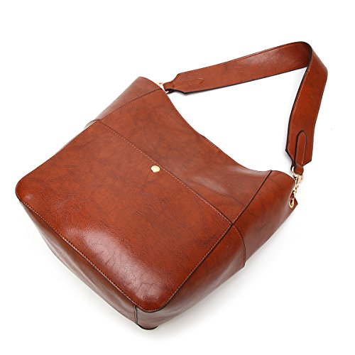 Molodo Womens Satchel Hobo Stylish Top Handle Tote PU Leather Handbag Shoulder Purse by Molodo (Image #6)