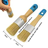 Chalk & Wax Paint Brush Set for Furniture,DIY