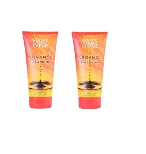 Swiss-o-Par Arganöl Haarkur 400ml, 2er Set (2 x 200ml) für trockenes und glanzloses Haar