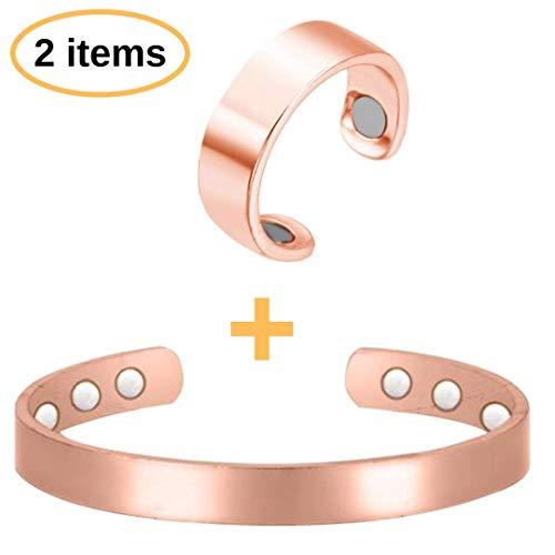 BodyMoves Copper Bracelet Plus Ring with Magnets (Original Design)