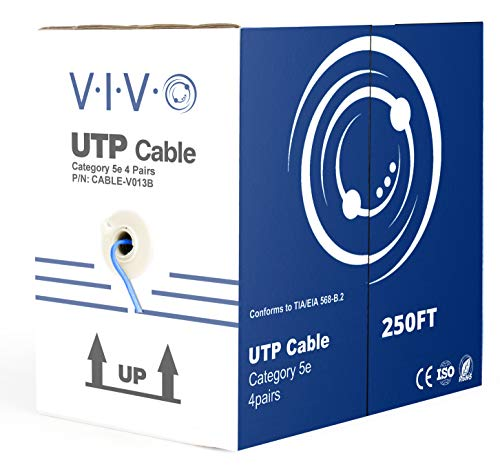 - VIVO Blue 250 ft Bulk Cat5e LAN Ethernet Cable/Wire UTP Pull Box 250ft Cat-5e (CABLE-V013B)