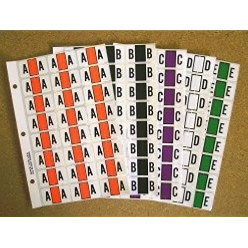 Jeter Alpha Ring Book Replacement Page 5 Pages 120 Labels Letter A-Orange