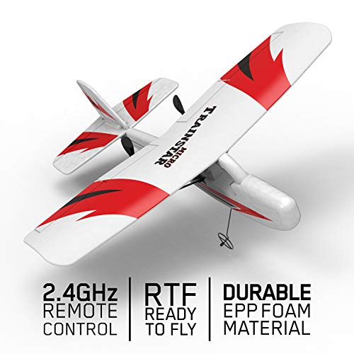 VOLANTEXRC Remote Control Airplane Traninstar Micro 2.4GHz RC Aircraft RTF Ready to Fly Indoor Outdoor Good for Kids Adluts (781-2) ()
