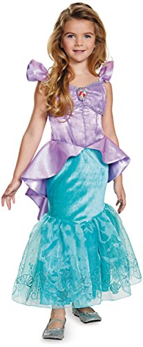 Disguise Ariel Prestige Disney Princess The Little Mermaid Costume, X-Small/3T-4T, One Color (Little Mermaid Kids Costume)
