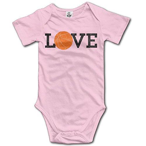 Jaylon Baby Climbing Clothes Romper Love Basketball Infant Playsuit Bodysuit Creeper Onesies Pink -