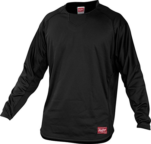 Rawlings Adult Dugout Fleece Pullover, Large, Black
