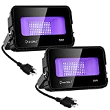 Onforu 50W UV LED Black Light, UV Flood Light