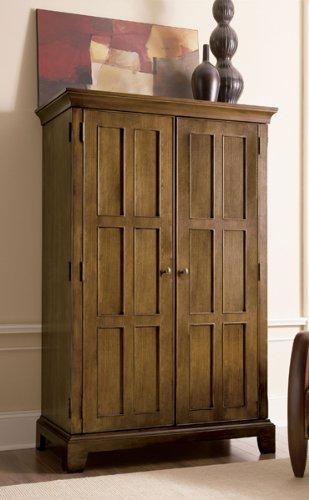 Riverside Furniture Woodlandu0027s Oak Computer Armoire In Canyon Oak