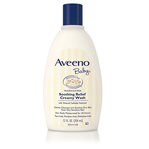 Aveeno Baby Soothing Relief Creamy Wash For Dry Sensitive Skin, 12 Fl. Oz. (Pack of 2) Soap 12 Ounce Bottle