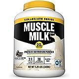 Muscle Milk Collegiate Protein Powder, Cookies 'N Crème, 20g Protein, 5.29 Pound