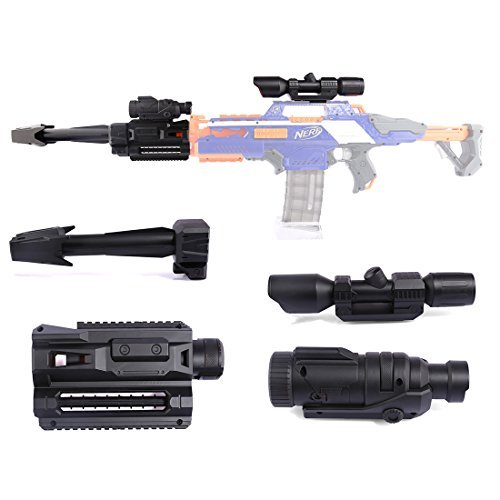 PeleusTech Modified Accessory Kit for Nerf N-Strike Elite Rapidstrike CS-18 Blaster - (Black)