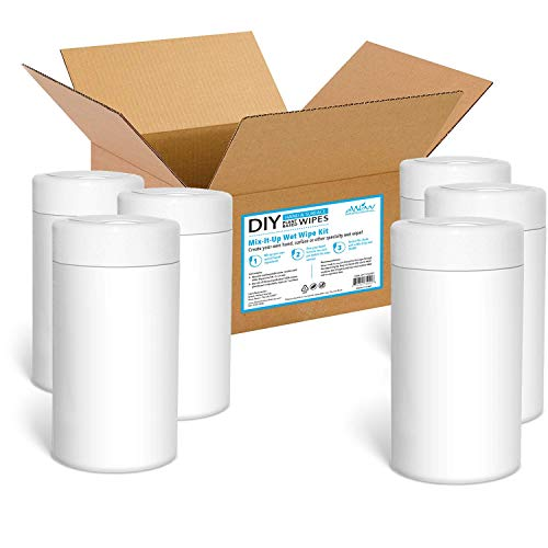(DIY Hand & Surface, Mix-It-Up Wet Wipe Kit, (50 Viscose Dry Wipes X 6 Canisters), 300 Wipes)