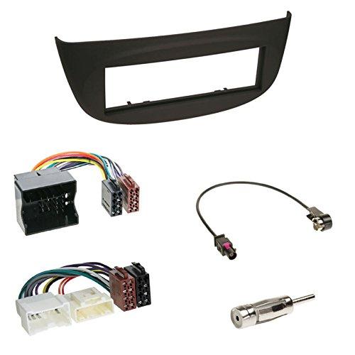 schwarz N Quadlock//ISO KFZ Adapter 09//2010-2012 2007-2012//Renault Wind N Fakra Antenne f/ür Renault Twingo II Einbauset : Autoradio 1-DIN Radioblende Radio Blende