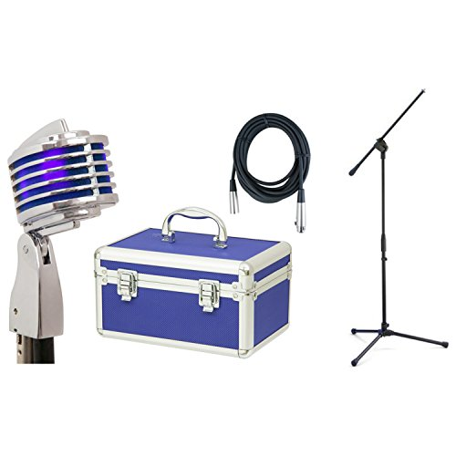 Heil The Fin (Blue) Microphone w/Hard Case, Stand, and Cable by Heil (Dunlop)