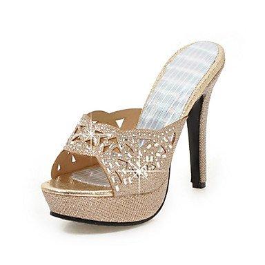 Confort Zapatos Oficina Stiletto Mujer y Tacón Materiales Informal Purpurina Club gold y Noche Fiesta Trabajo Boda ligaosheng Sandalias del Vestido Rqwt4Rz