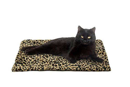 FurHaven Pet Heating Pad | ThermaNAP Faux Fur Self-Warming Cat Bed, Leopard Print