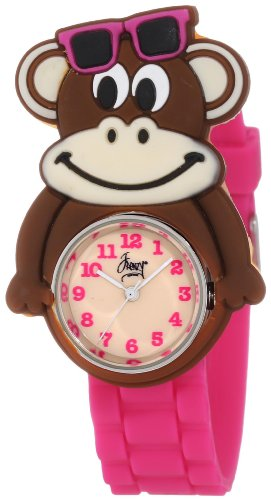Critter Monkey - Frenzy Kids' FR2000 Monkey Critter Face With Magenta Rubber Band Watch