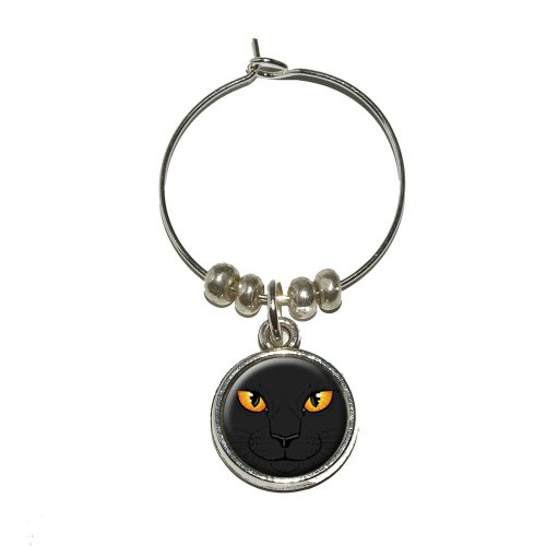 Black Cat wine glass charm