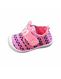 Molyveva Toddler Baby Cartoon Star Flat Shoes Infant Rabbit Ears Squeaky Sneaker